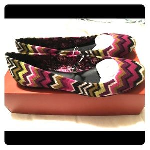 Missoni for Target ballet flats size 10 NWT